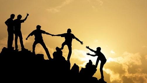 teamwork, together