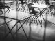 classroom, empty, dark