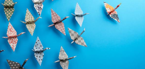 Leadership - origami birds